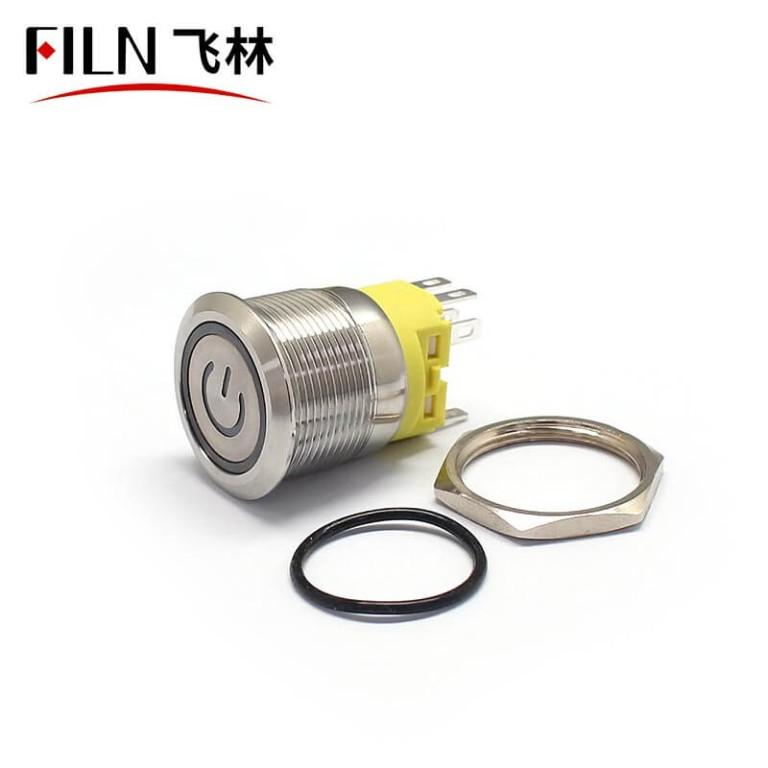22MM 8 PIN 110V LED illuminated Latching Red Push Button Switch