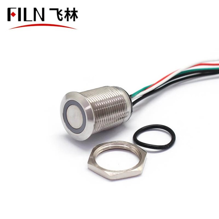 16MM 12V Red Green Double Color Metal Push Button Starter Switch