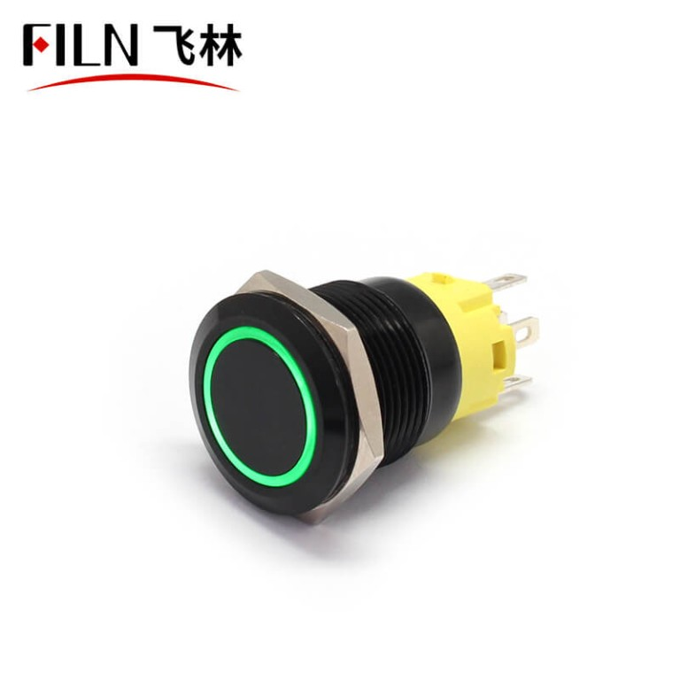 5pin 19mm 110V UL IP67 Green Metal Push Button Switch