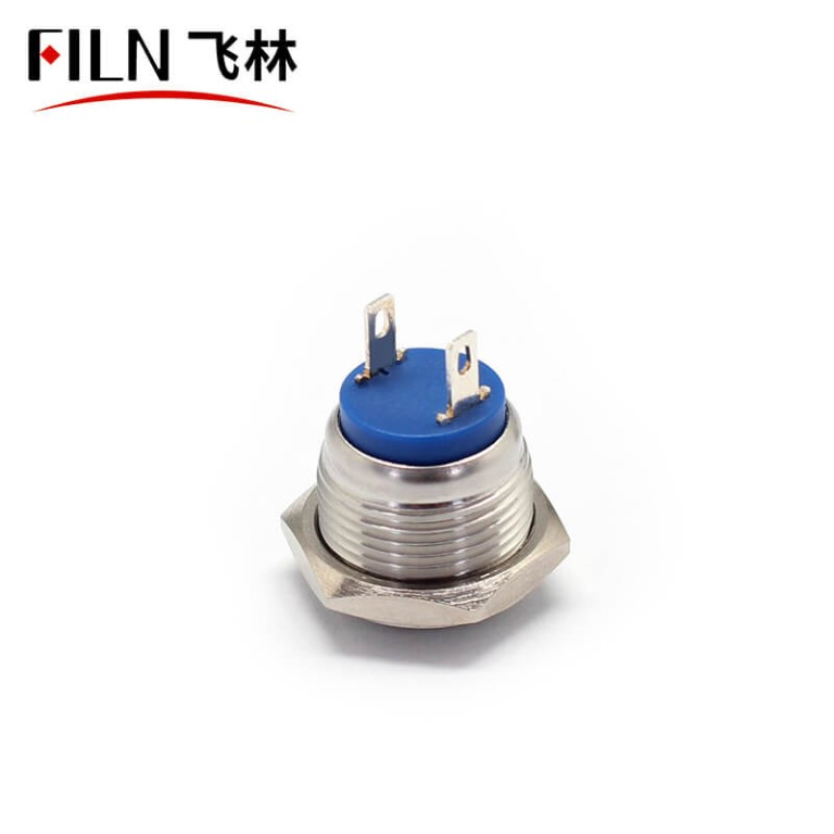 16MM stainless 2P  momentary ul METAL  push button switch