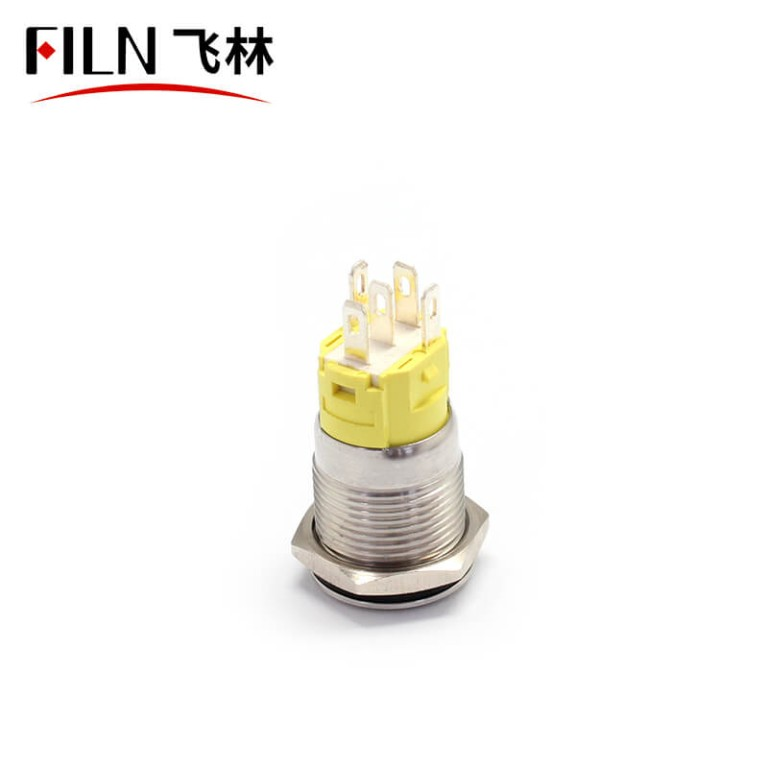 16mm 12V Red Green Automotive Momentary Push Button Switch