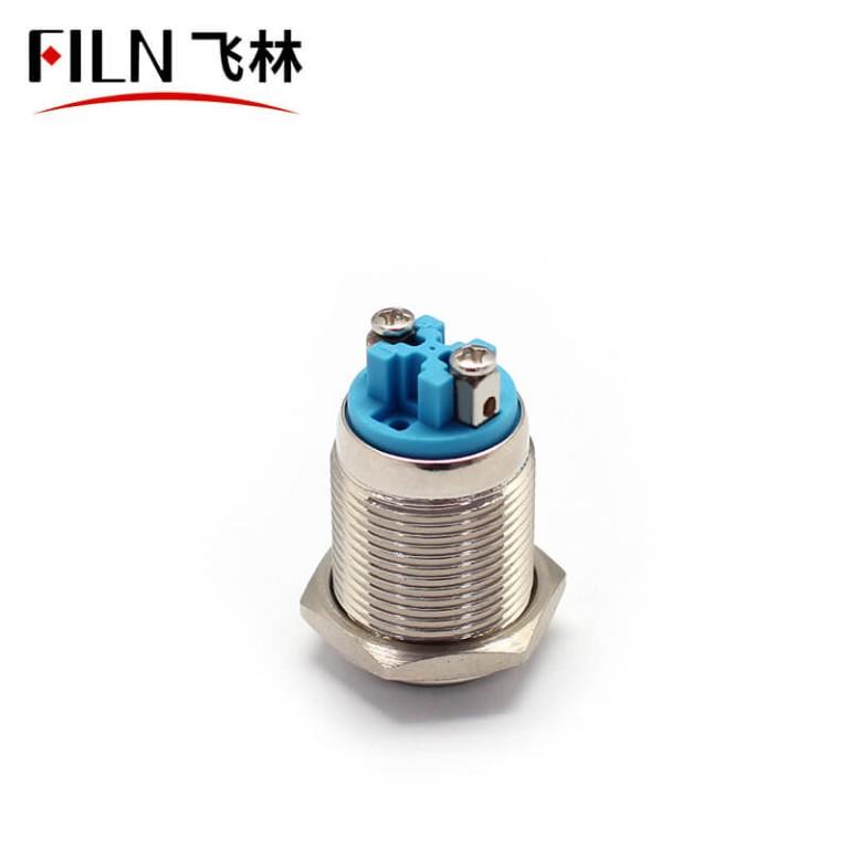 16mm latching non illuminated ip65 metal push button switch