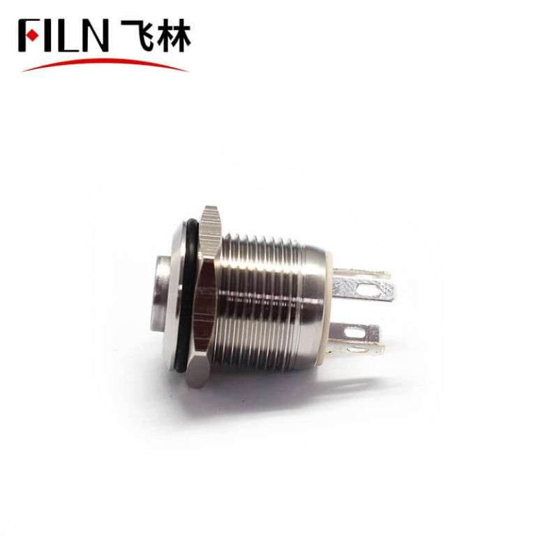 16MM 10A RED IP67 SPDT 12V Momentary Push Button Switch