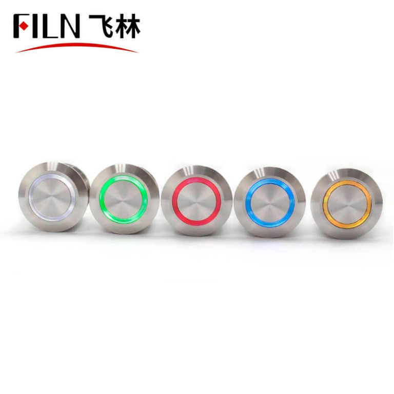 19MM 10A 250V IP67 FILN momentary push button switch