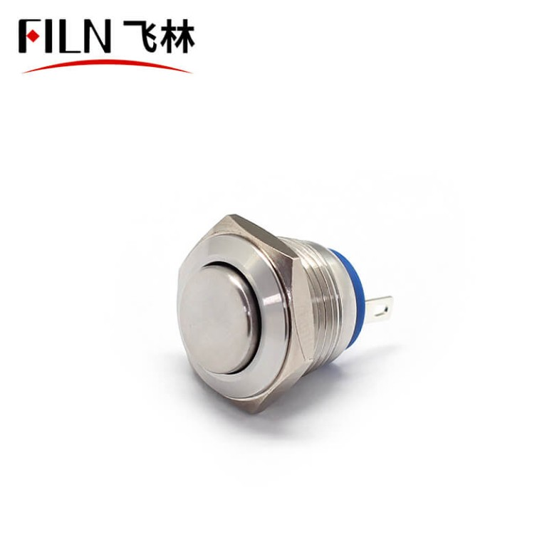 16MM 250V 10A Momentary Doorbell Metal  Push Button  Switch
