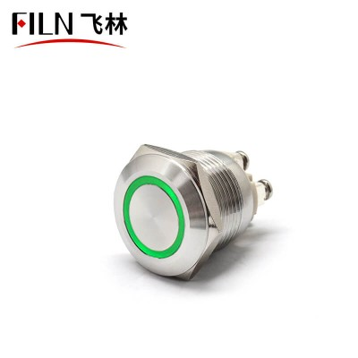 19MM 24V Green LED Momentary Doorbell Push Button Switch