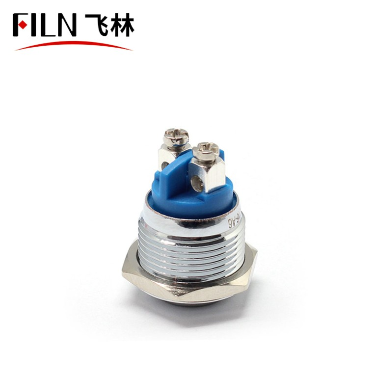 FILN 16MM waterproof PUSH ON Screw feet METAL PUSH BUTTON SWITCH