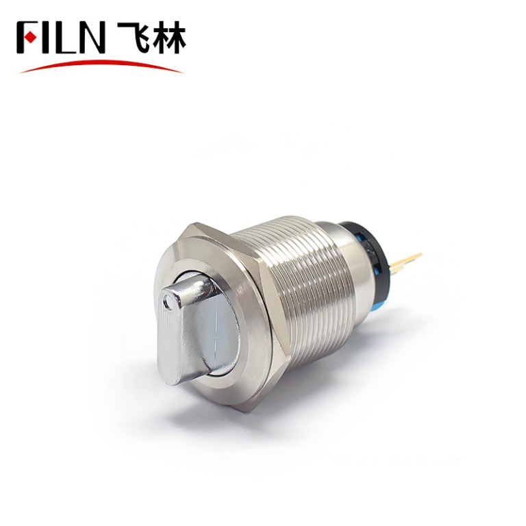 22MM LED Metal Rotary Latching illuminated Push Button Switch 12V With 3poles