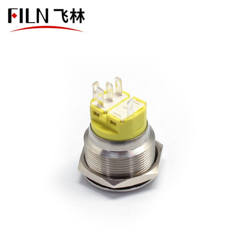 25MM 5PIN Stainless Steel Metal Push Button Switch IP67 Push Button Light Switch