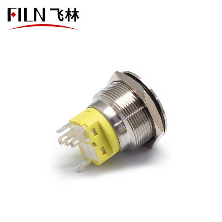 25MM 5PIN Stainless Steel Metal Push Button Switch with LED Indicator IP67