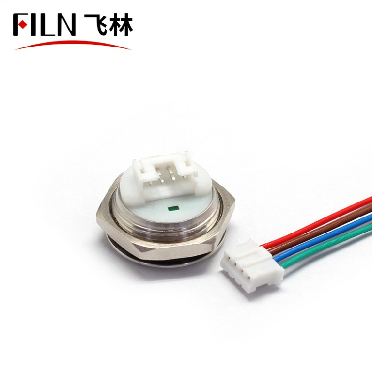 Shortest Stainless Steel Waterproof Momentary Push Button Switch 12V Connector With Wire