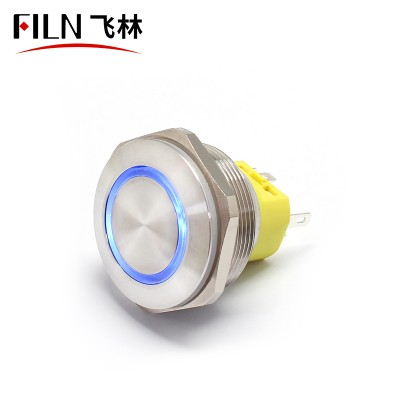 28MM LED IP67 Ring Metal Push Button Power Switch