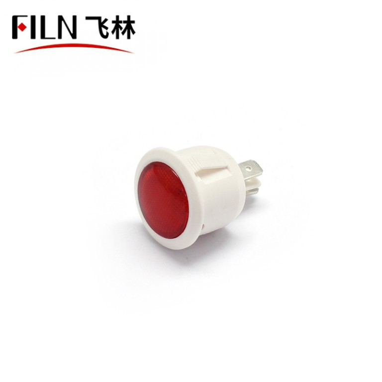 22mm 12V Mini RED Round LED Indicator Lights