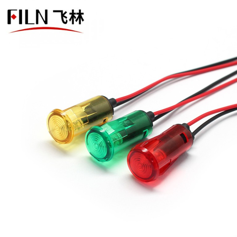 14mm 12V 220V 110 Volt LED Indicator Lights