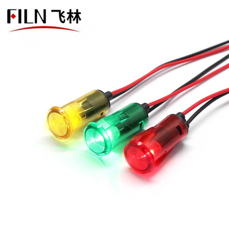 14mm 12V 220V 110 Volt LED Indicator Lights