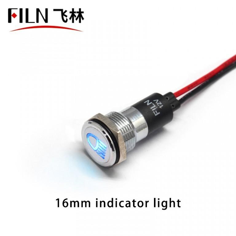 12v Blue LED High Beam Indicator Light