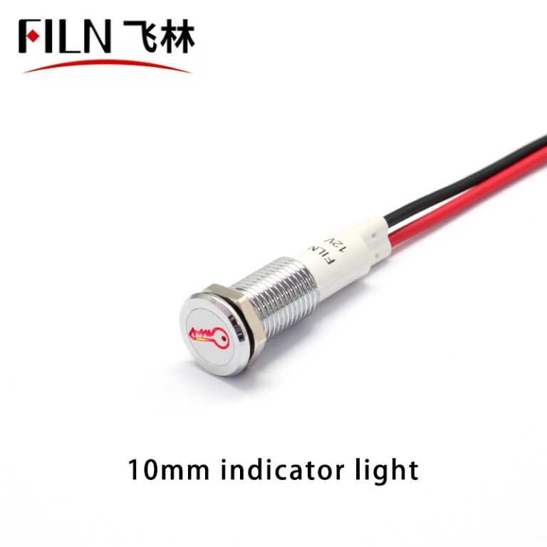 Key Symbol Car Indicator Light LED 12V IP67