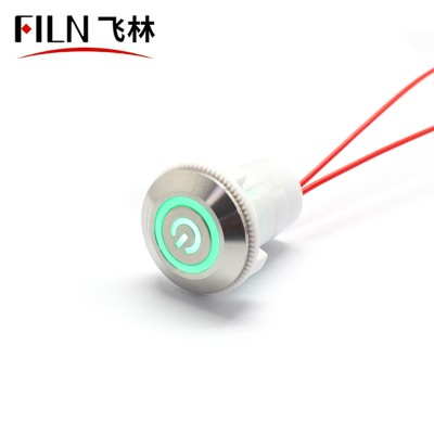 22MM Push Button Light Switch With Indicator Light