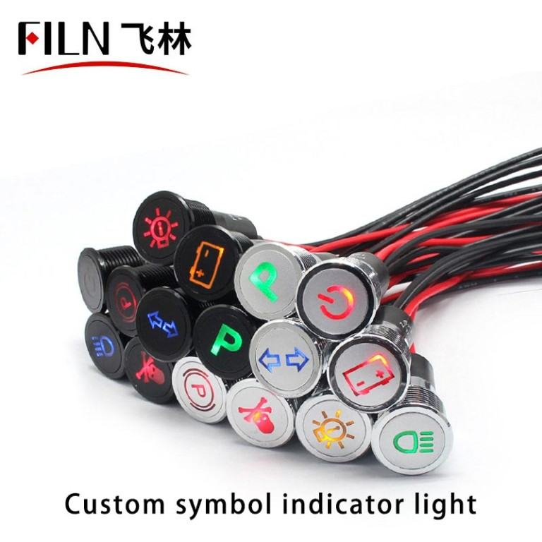 The Key Is Not In The Car Indicator Light IP67 Yellow LED Lamp Beads