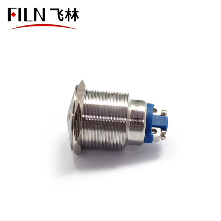 22mm LED Metal Hand Buzzer Alarm Indicator Light Signal Lamp