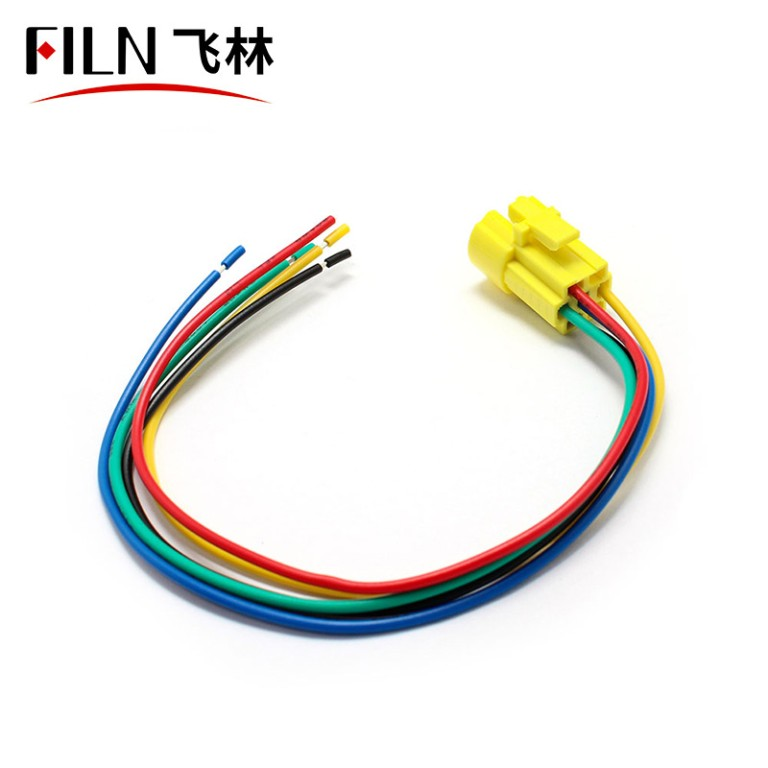 Push Button Wire Connector 4 Wires in-line Wiring Cable Socket Adapter for 16mm Switch