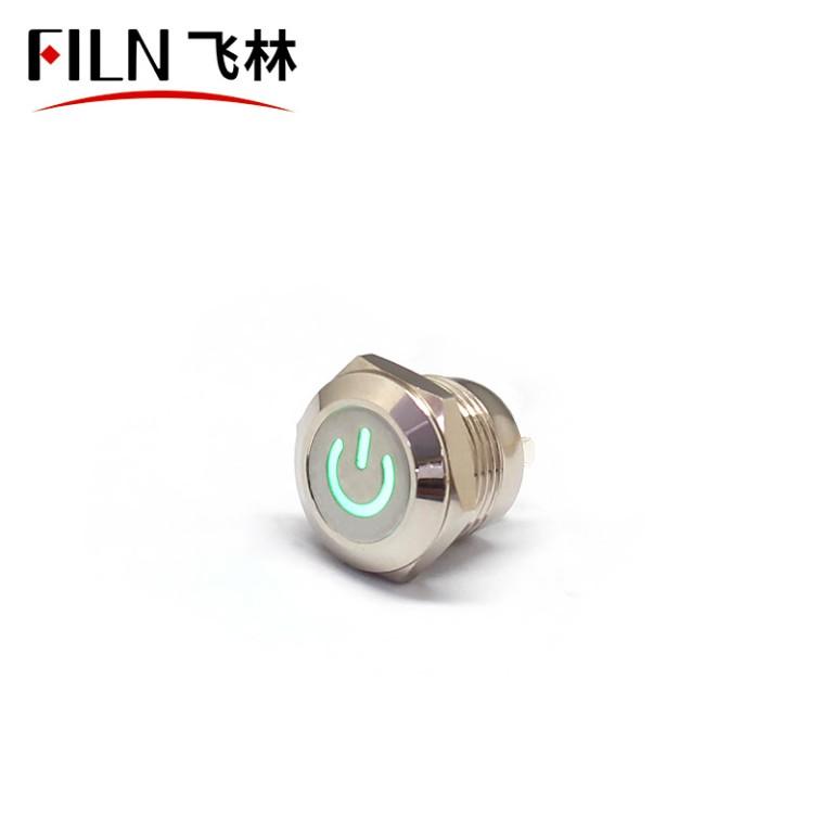 FILN IP67 12MM 12V 220V Mini Push Button Switch ON OFF