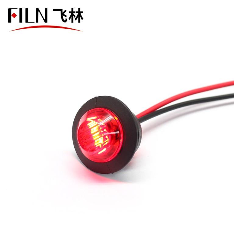 Led Truck Trailer Light 0.75-Inch Mini Lamp Side Marker & Clearance Lamp