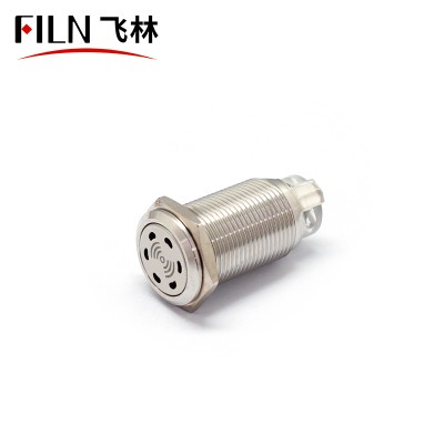 Metal Buzzer AC24-220V Flat Round Honeycomb High Quality Illuminated Stainless Steel 19mm