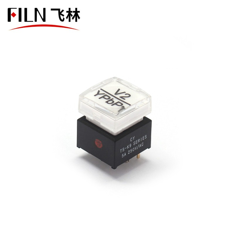 Luminous Switch Audio Video Console Button Switch With Light LED Tact Switch 5A