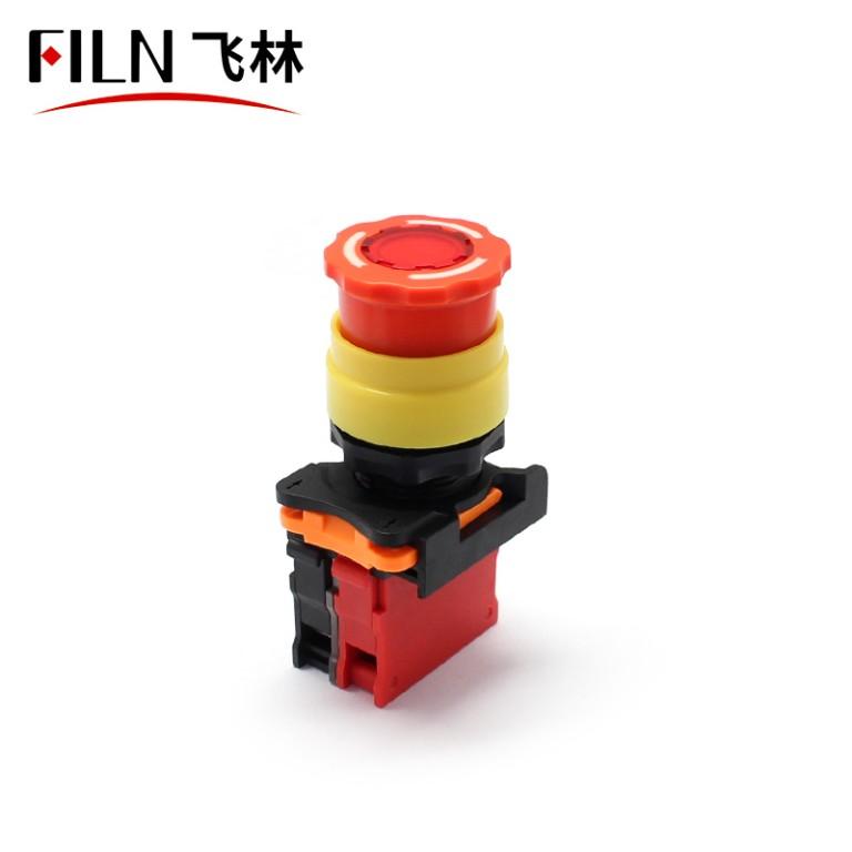FILN 22MM 24V 220V Emergency Stop Button Switch With Light