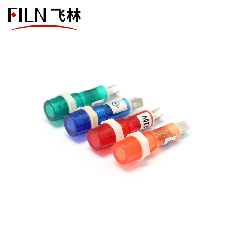 LED Indicator Light Price 8MM Plastic Base Green Color Waterproof