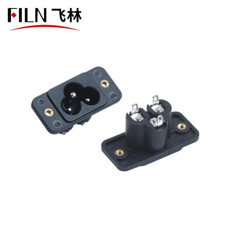 Connector Socket Plug AC 125V 15A Panel Mount Outlet Power Socket