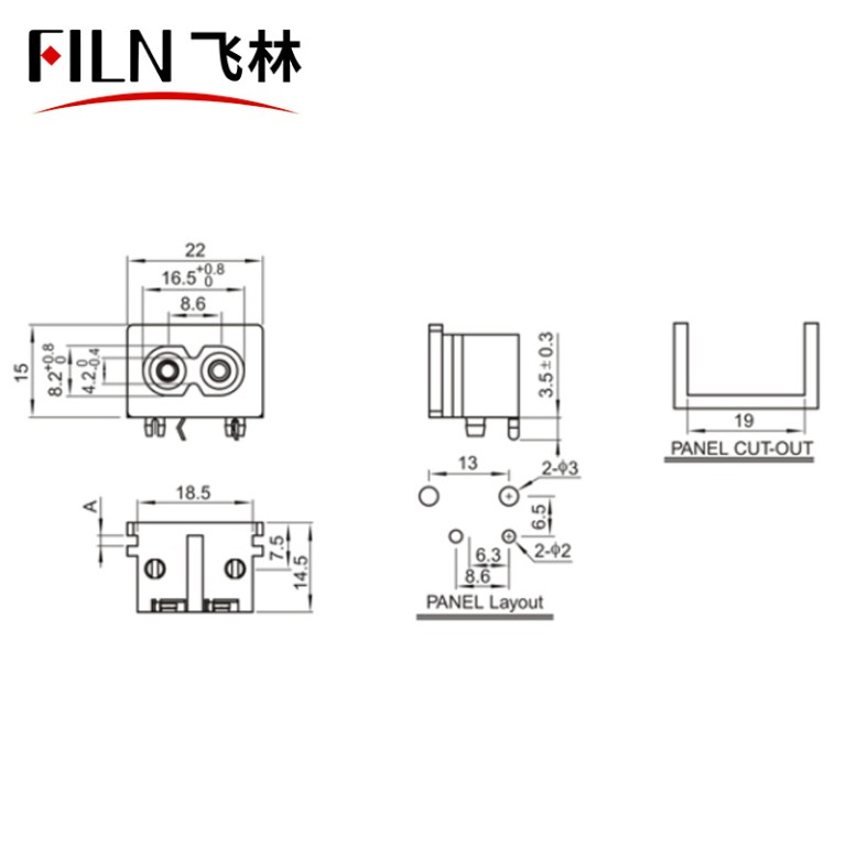 Connector Pin Socket 3 Pin Male Plug Panel Power Inlet Sockets Connectors Adapter Screw Type AC