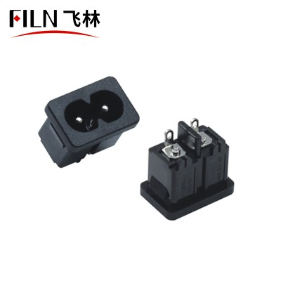 Wire Connector Socket AC 250V 2.5A 2 Pins Socket Soldering Pins Power Connector
