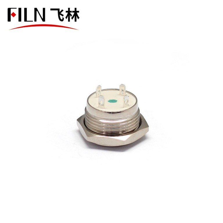 16mm Diameter Momentary 12V Metal Push Button Switch ON OFF With  Ring LED Power Symbol