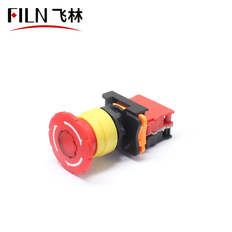 Emergency Stop 22mm Button Switches Red Mushroom Equipment Lift Switch