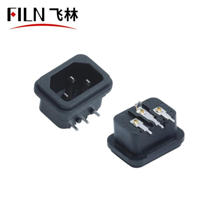 Installing Electrical Outlet Computer Socket Black 3 Pins