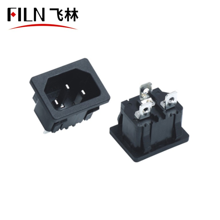 AC 2 Pins 120 Outlet Socket Soldering Pins Power Connector