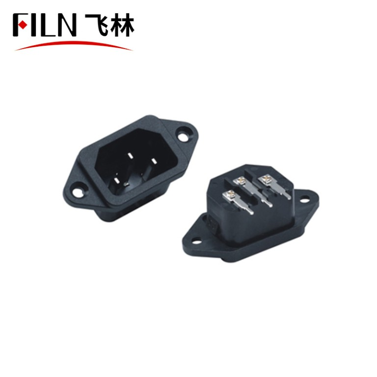 Screw Mount 3 Pins AC Inlets Power Plug AC Receptacle Wiring