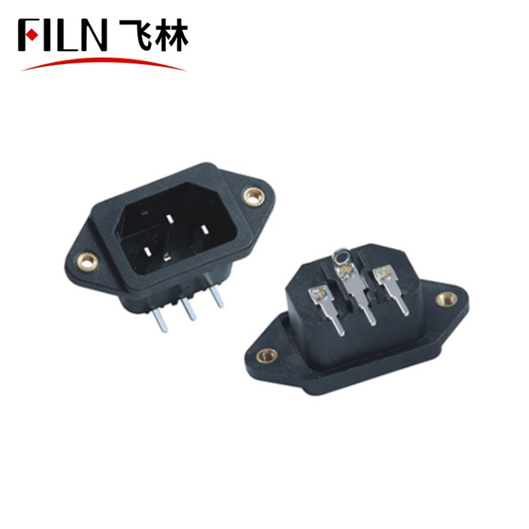 Power Inlet Module Plug Male Socket with Rocker Switch 3 Pin