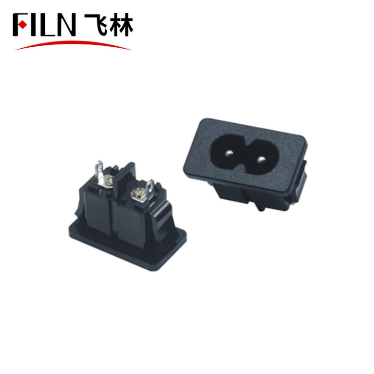 10A 250V 2Pin Panel Outlet Electrical Locked AC Power Socket