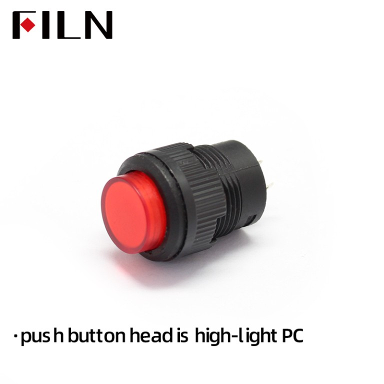 16MM 12V Latching R16 503AD Push Button Switch
