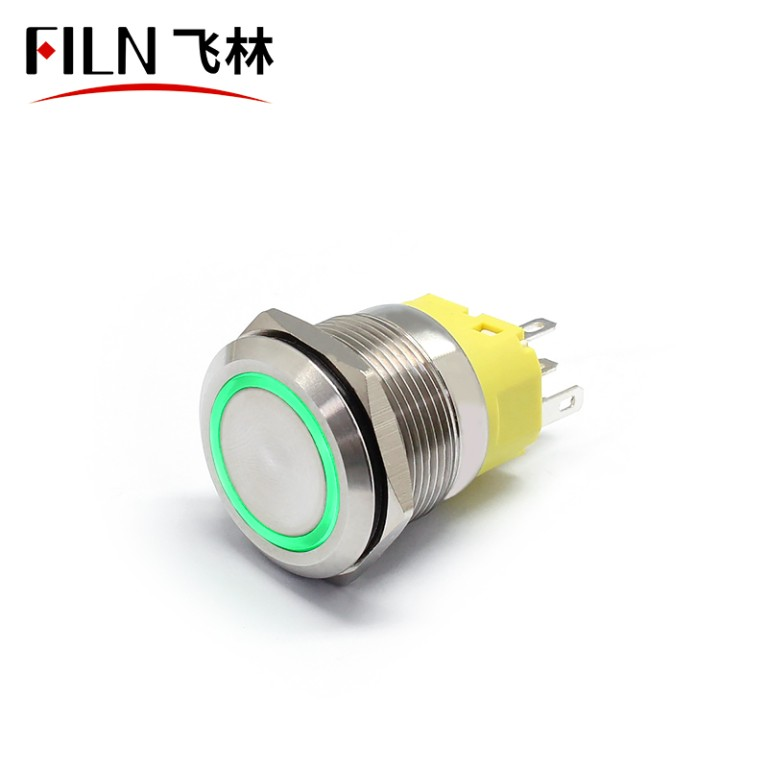 22MM 12V LED Push Button Switch With Ring Light