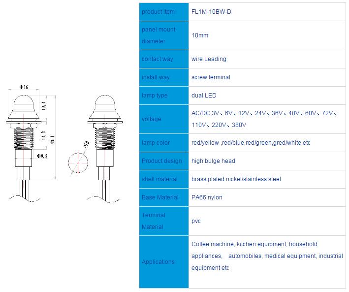 FL1M-10BW-D  Outline & installation size