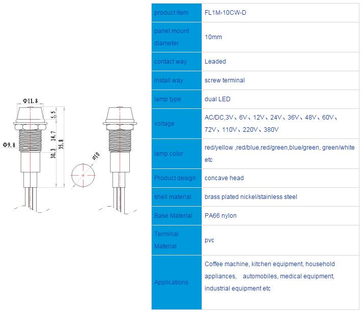 FL1M-10CW-D  Outline & installation size