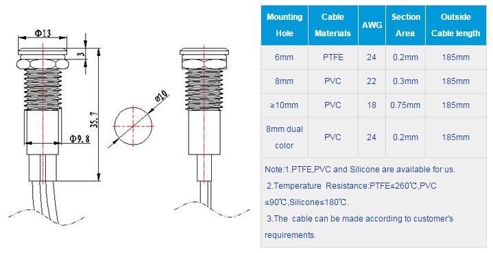 FL1M-10FW-1  Outline & installation size