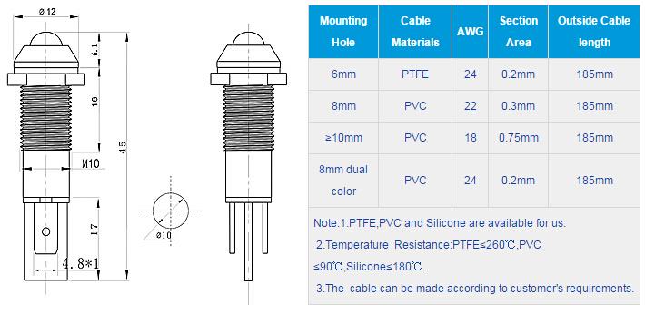 FL1M-10SJ-1 Outline & installation size