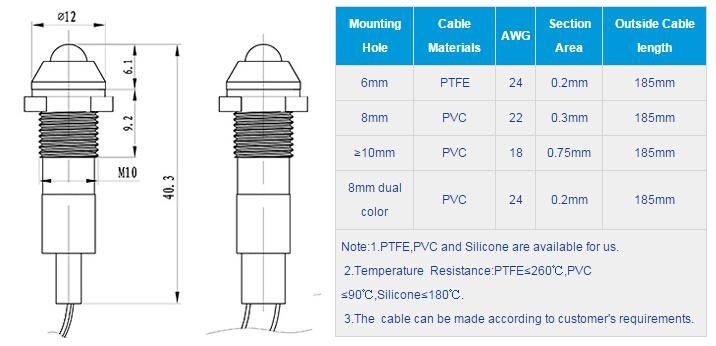 FL1M-10SW-1  Outline & installation size