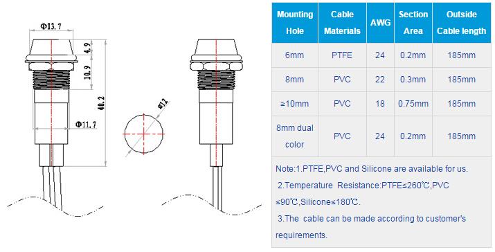 FL1M-12CW-1 Outline & installation size