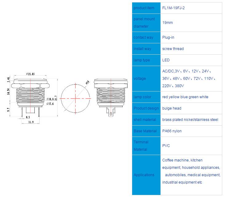 FL1M-19FJ-2 Outline & installation size